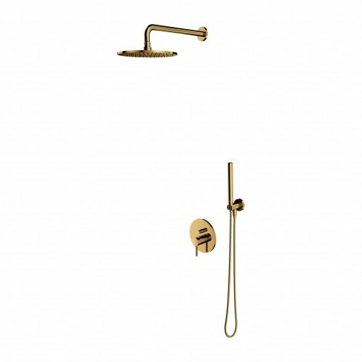 Aukso spalvos dušo sistema potinkinė