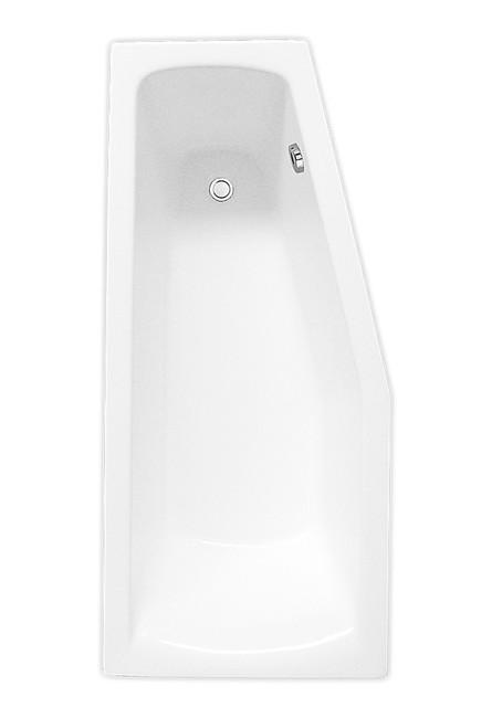 Akrilinė asimetrinė kampinė vonia Roth Mini