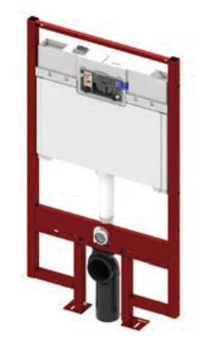 Ypač plonas potinkinis TECEprofil WC modulis (telpa į 8 cm gipskartonio profilį)