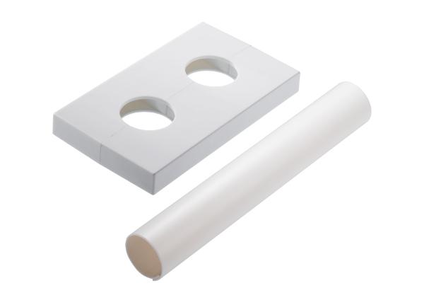 Tvirtinimo apdailos detalės baltos spalvos 50 mm