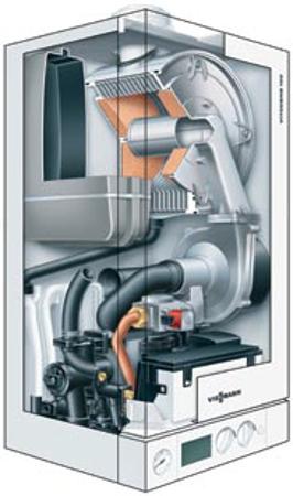 Kondensacinio dujinio kombinuoto katilo Vitodens 100-W schema