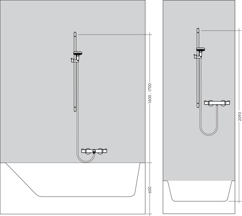 du o komplektas hansgrohe croma select e vario 110 90 cm. Black Bedroom Furniture Sets. Home Design Ideas