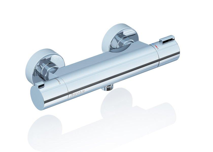 Termostatinis sieninis dušo maišytuvas Ravak Termo 200 TE 072.00/150