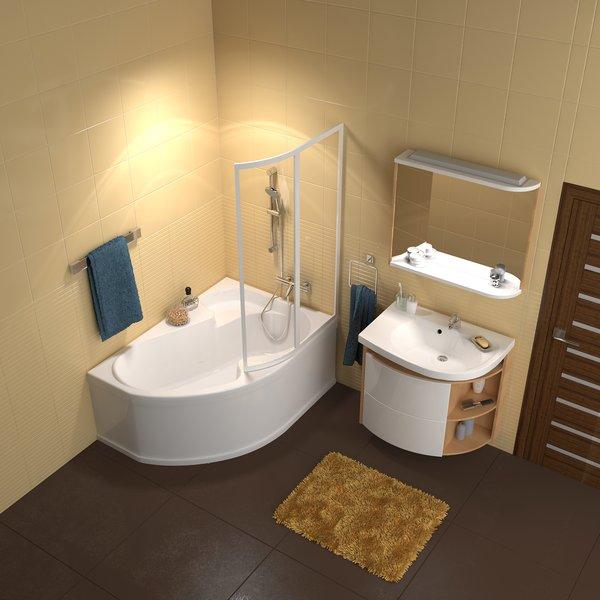 Termostatinis sieninis vonios/dušo maišytuvas Ravak Termo 100 TE 022.00/150 interjere