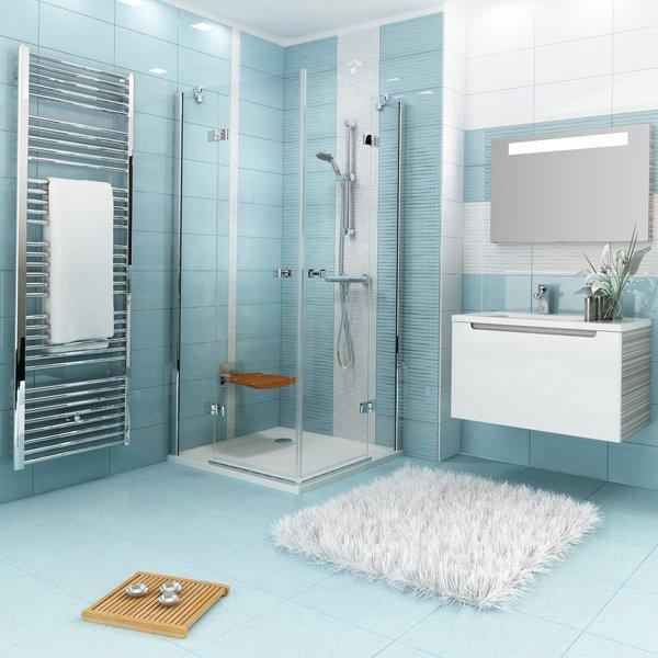 Termostatinis sieninis dušo maišytuvas Ravak Termo 100 032.00/150 interjere