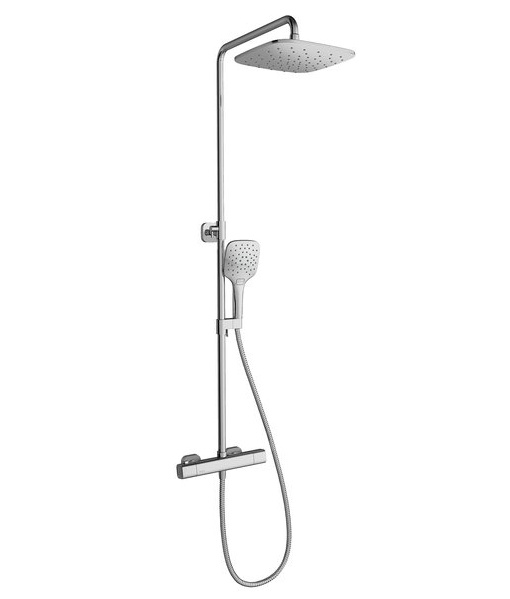 Dušo stovas Ravak 10° TD 091.00/ 150 su termostatiniu maišytuvu ir dušo komplektu