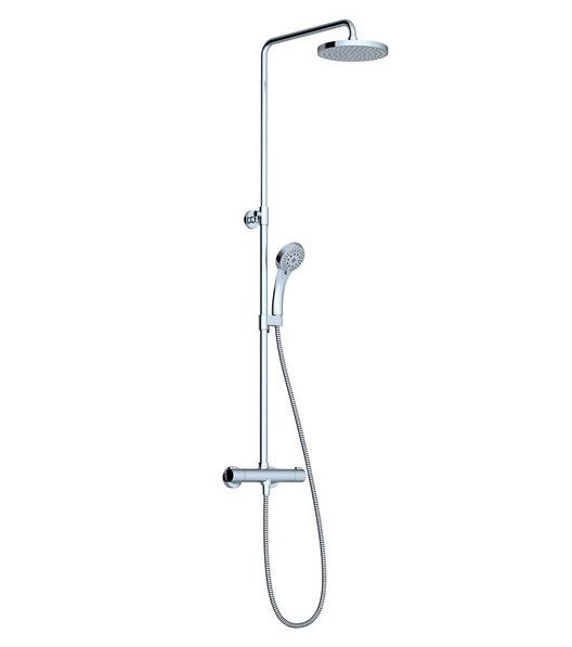 Dušo stovas Ravak Termo 100 TE 091.00/150, su termostatiniu maišytuvu ir dušo komplektu