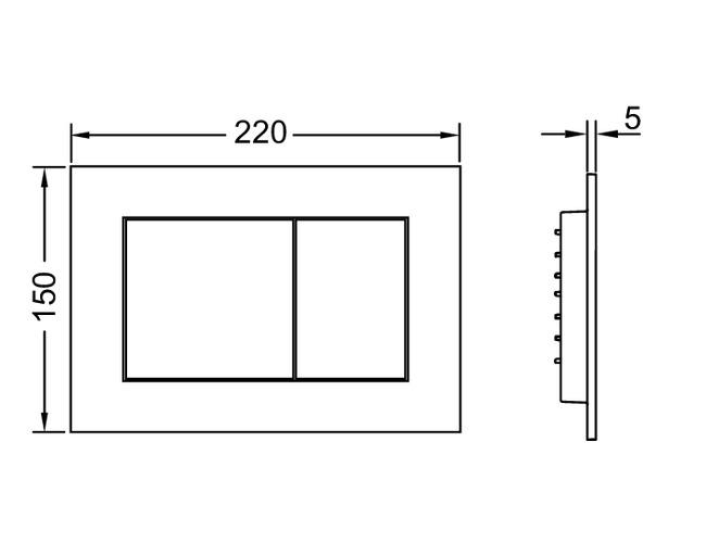 TECEnow dvigubos vandens nuleidimo plokštelės matmenys