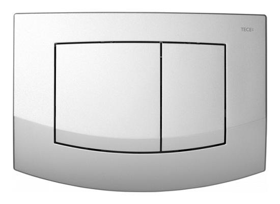 Matinė chromuota TECEambia dviguba vandens nuleidimo plokštelė 9240225