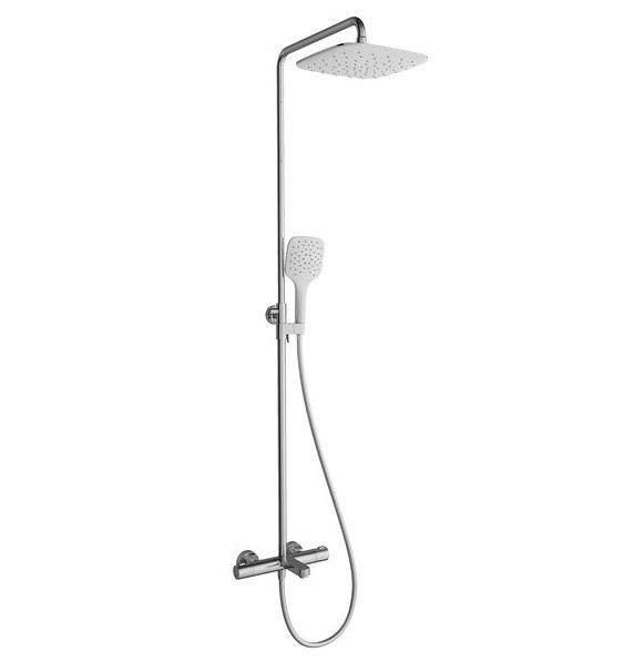 Dušo stovas Ravak Termo 300 TE 092.00/150, su termostatiniu maišytuvu ir dušo komplektu