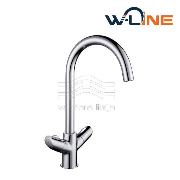 Maišytuvas virtuvės plautuvei W-line Abo 14043 Premium