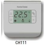 Neprogramuojamas skaitmeninis patalpos termostatas su ekranu 2-40°C Fantini Cosmi FC-CH111 (sidabro spalvos)