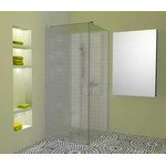 Atvira dušo sienelė AL-S1 raštuotu stiklu