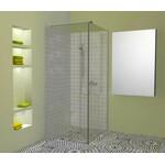 Atvira dušo sienelė AL-S1 skaidriu stiklu