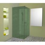Atvira dušo sienelė AL-S1 žaliai tonuotu stiklu