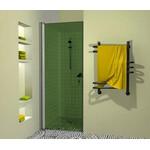 Dušo durys Griubner AL-D1 žaliai tonuotu stiklu