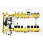 Žalvarinis reguliuojamas kolektorius FBH su pamaišymo mazgu grindiniam ir radiatoriniam šildymui