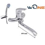 Vonios maišytuvas W-line Plato S 14471, 300 mm. snapas