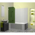 Berėmė vonios sienelė Griubner FR-V1 žaliai tonuotu stiklu