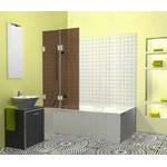 Berėmė vonios sienelė Griubner FR-V2 rudai tonuotu stiklu