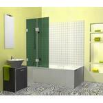 Berėmė vonios sienelė Griubner FR-V2 žaliai tonuotu stiklu