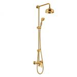 Art gold auksinis dušo maišytuvas su dušo stoveliu, lietaus galva ir dušeliu